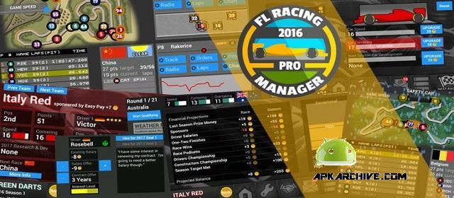 FL Racing Manager 2016 Pro v1.11 APK