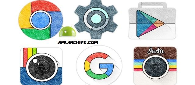 Sketchy – Icon Pack v1.44 APK