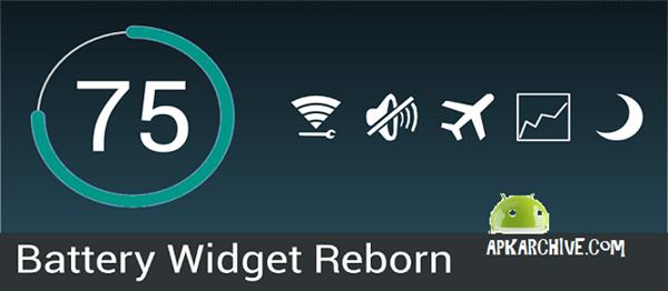 Battery Widget Reborn 2017 v2.4.2/PRO APK