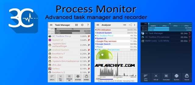 3C Process Monitor Pro Apk