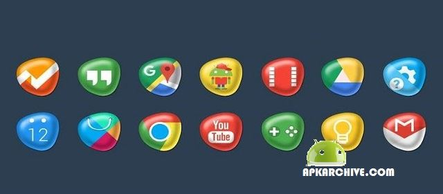 Pebbles Apex/Nova Icon Theme v4.1.6 APK