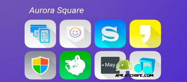 Aurora UI Square - Icon Pack Apk