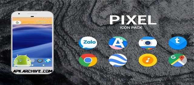 Pixel Icon Pack - Nougat UI Apk