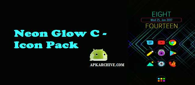 Neon Glow C – Icon Pack v2.4.0 APK