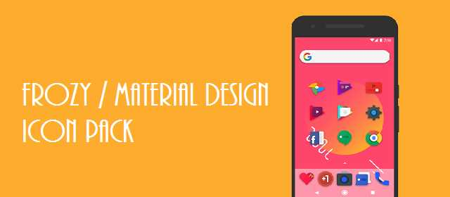 Frozy / Material Design Icon Pack v2.0 APK