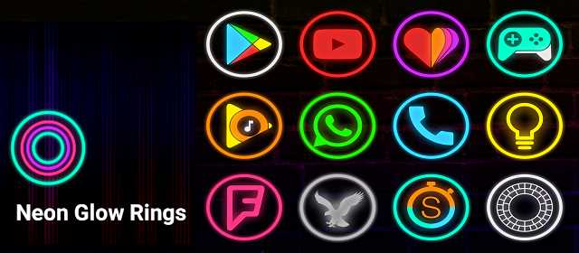 Neon Glow Rings – Icon Pack v2.5.0 APK