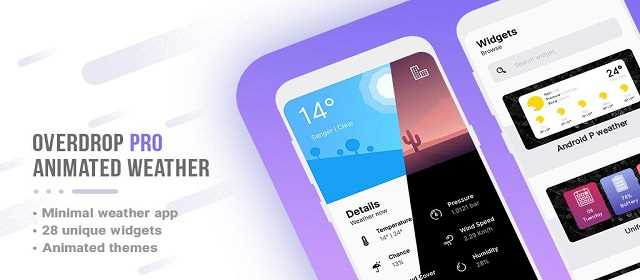 Overdrop Pro – Animated Weather & Widgets v1.0.3 APK