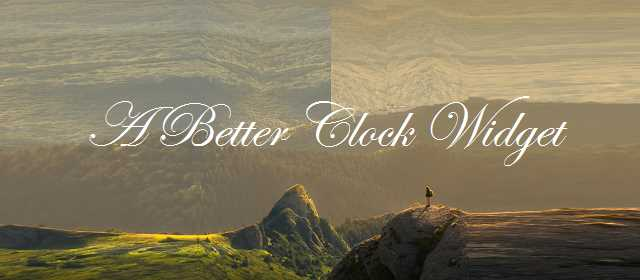 A Better Clock Widget Apk