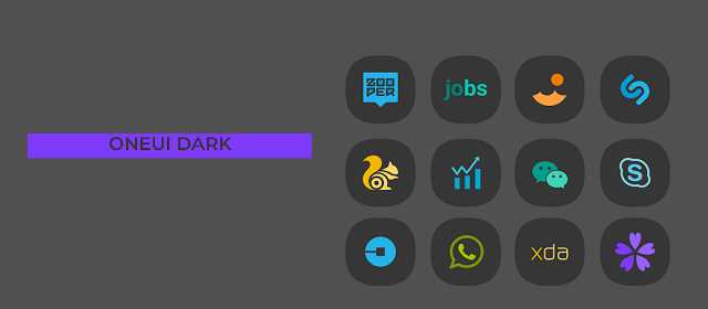 OneUI Dark- Icon Pack Apk