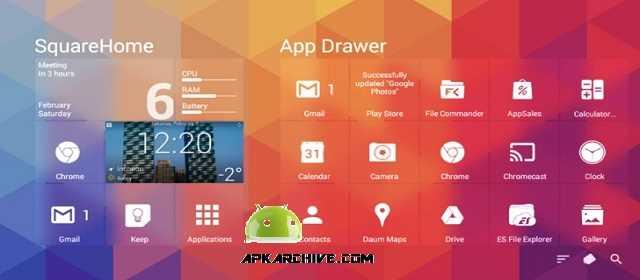 SquareHome 3 Premium (launcher) Apk