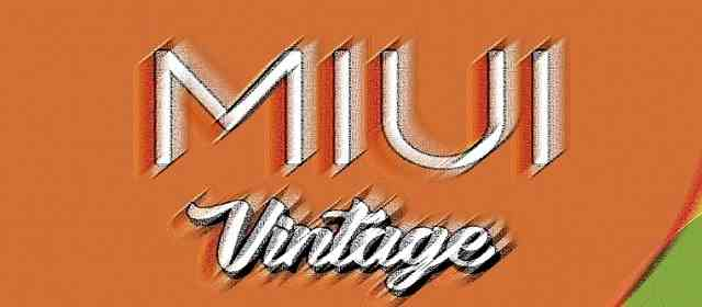 MIUI VINTAGE - ICON PACK Apk