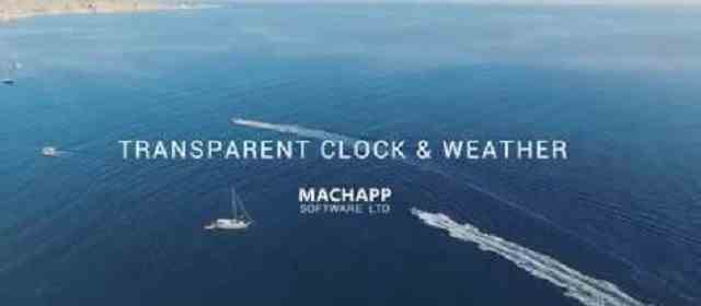 Transparent clock weather (Ad-free) Apk