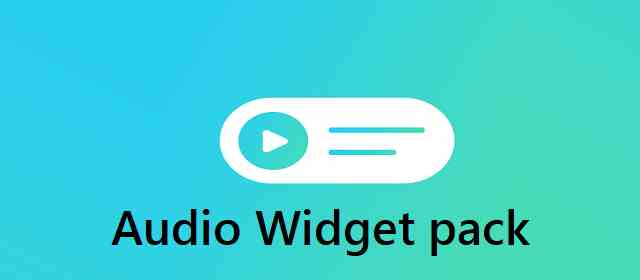 Audio Widget pack Apk
