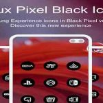 Delux Black - Round Icon Pack v1.2.7 APK