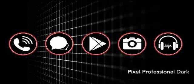 PIXEL PROFESSIONAL DARK - ICON PACK Apk