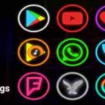 Neon Glow Rings - Icon Pack v5.0.0 APK