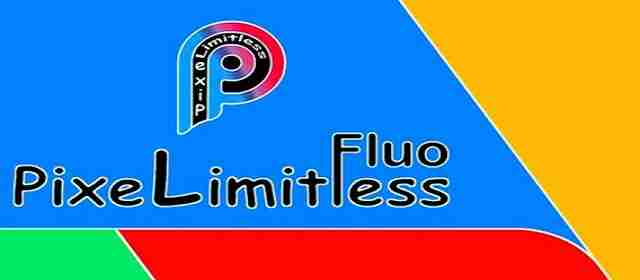 Pixel Limitless Fluo - Icon Pack Apk